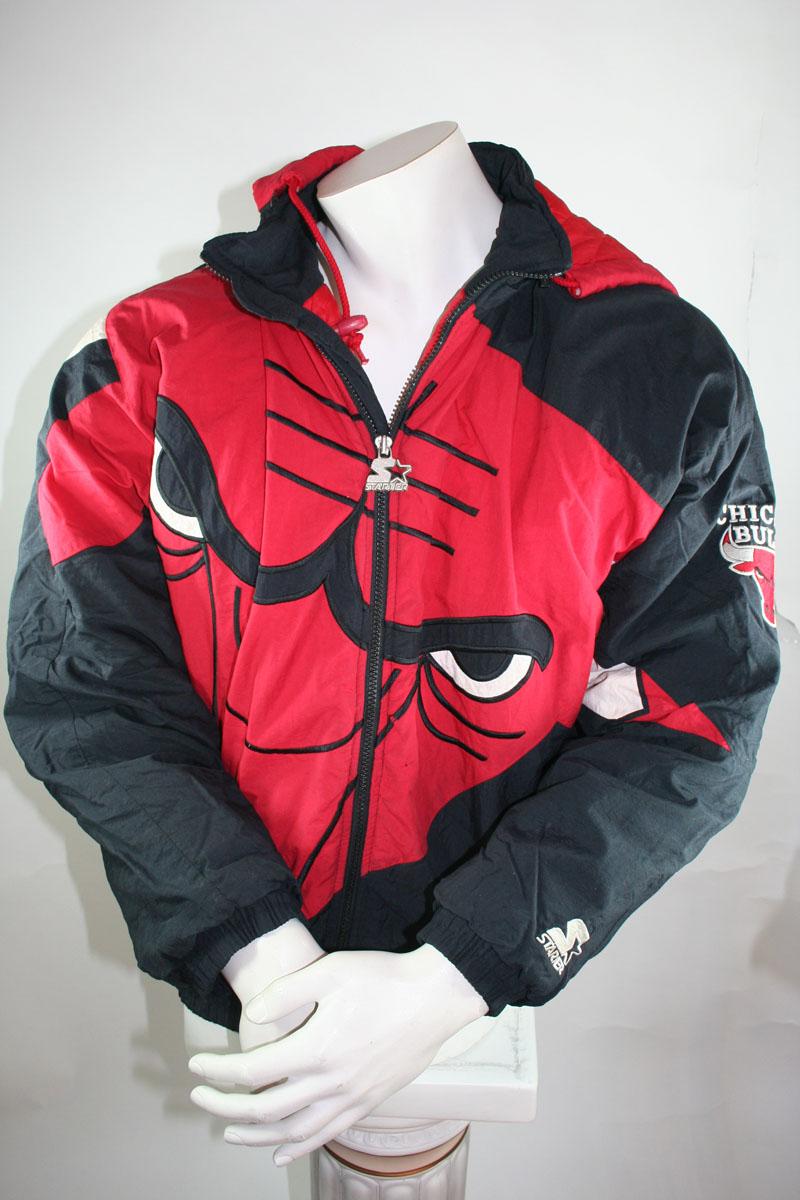 cf71929ebfa459 Starter Chicago Bulls jacket Winter 23 Michael Jordan jersey men s S ...