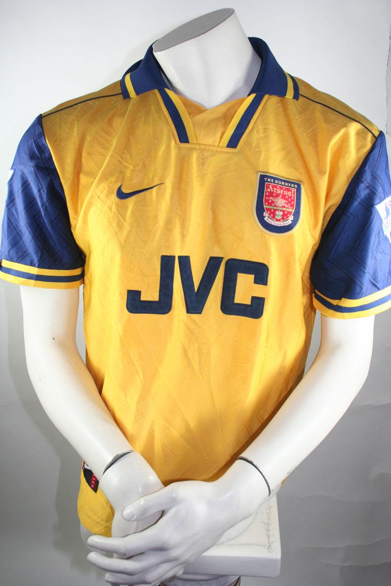 online store dc365 4f238 Arsenal London jersey 4 Patrick Vieira 1996/97 JVC Nike M