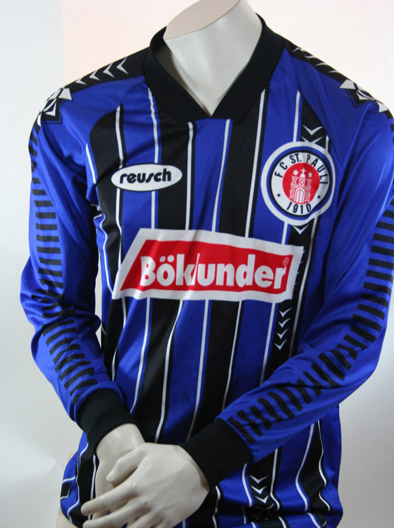 reusch fc st pauli trikot 1996 97 b klunder away blau. Black Bedroom Furniture Sets. Home Design Ideas
