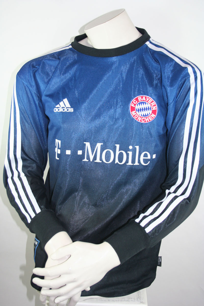 adidas fc bayern m nchen trikot 1 oliver kahn torwart 2002 03 herren xs s m l xl xxl g nstig. Black Bedroom Furniture Sets. Home Design Ideas