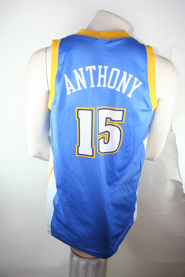 free shipping 55f1f ef875 Champion Denver Nuggets Jersey 15 Carmelo Anthony - M