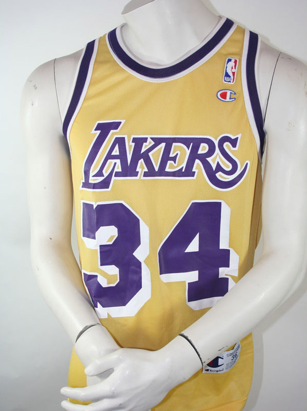 e0c0d39c9 Champion L.A. Los Angeles Lakers jersey 34 Shaquille o Neal NBA yellow  men s S