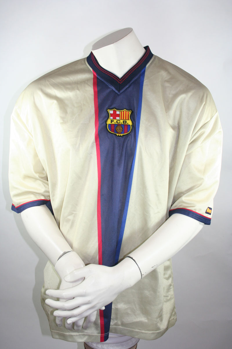 huge selection of 4f25f 38e07 Barca FC Barcelona jersey 11 Marc Overmars 1999/00 Gold away men's XL
