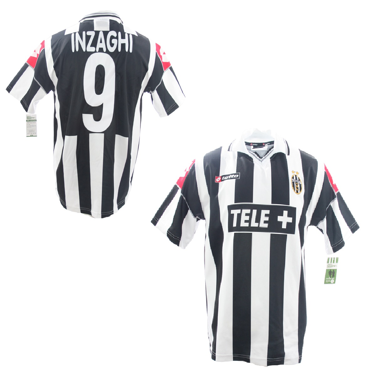 new product 0acb9 f1db8 Lotto Juventus Turin jersey 9 Filippo Inzaghi 2000/01 Tele ...