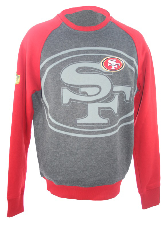 premium selection af69f 74c1c New Era San Francisco 49ers SF Sweatshirt grey red NFL men's ...