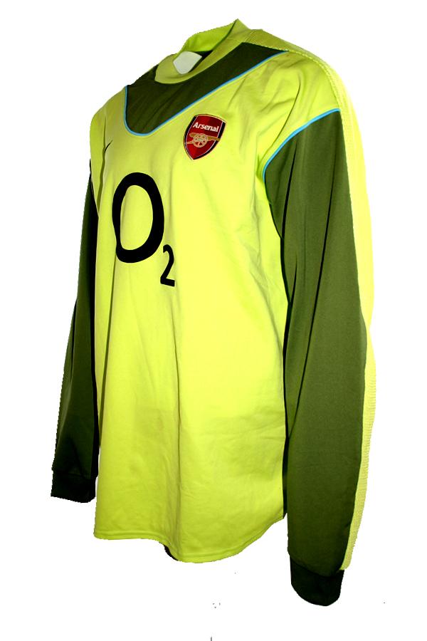 d9ba0cf71 Nike FC Arsenal keeper jersey 1 Jens Lehmann 2003 04 home unbeaten match  worn men s