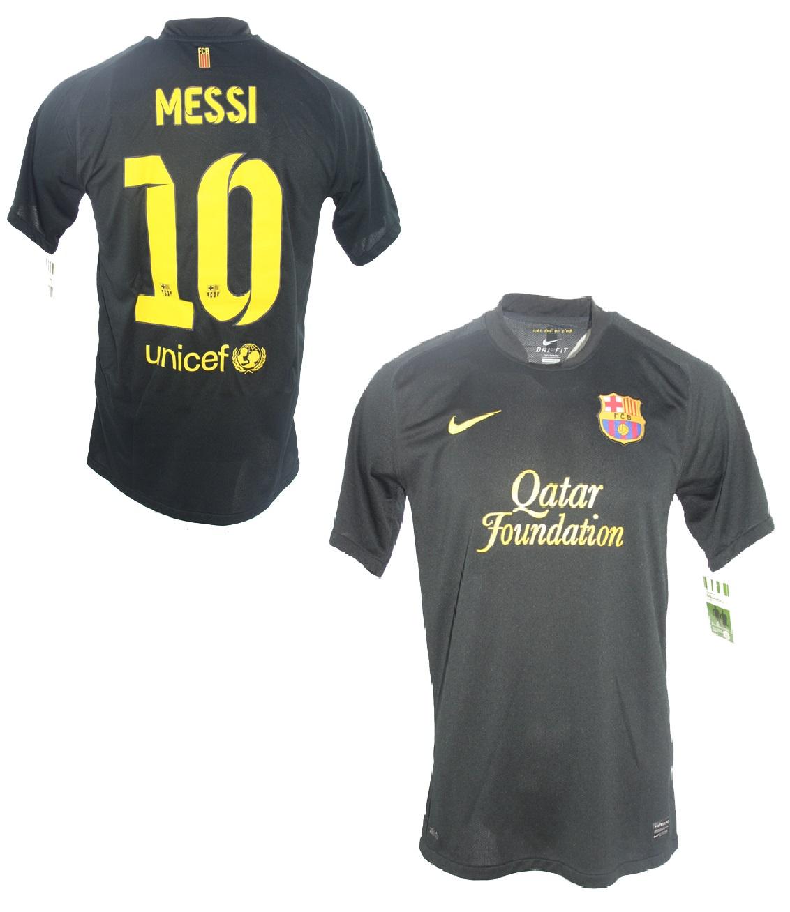 sale retailer 3f24f a5264 Nike FC Barcelona jersey 10 Lionel Messi 2011/13 Qatar black ...