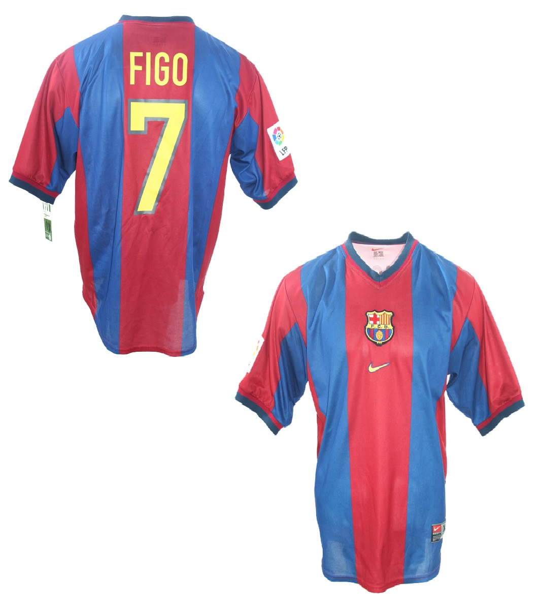 best website 602ea dd14b Nike FC Barcelona jersey 7 Luis Figo 1998/99 home men's S/M ...