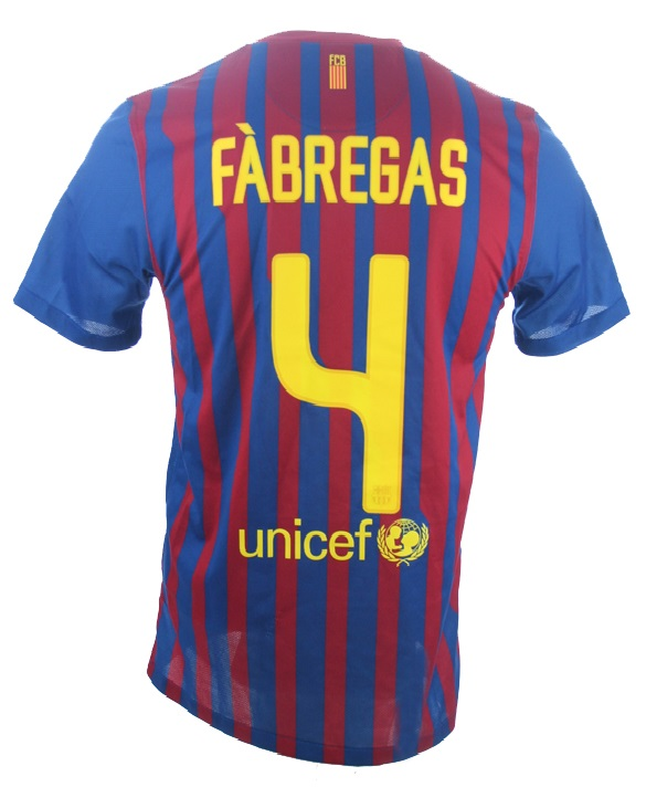 wholesale dealer 68207 2d86e Nike FC Barcelona jersey 4 Cesc Fabregas 2011/12 Qatar ...