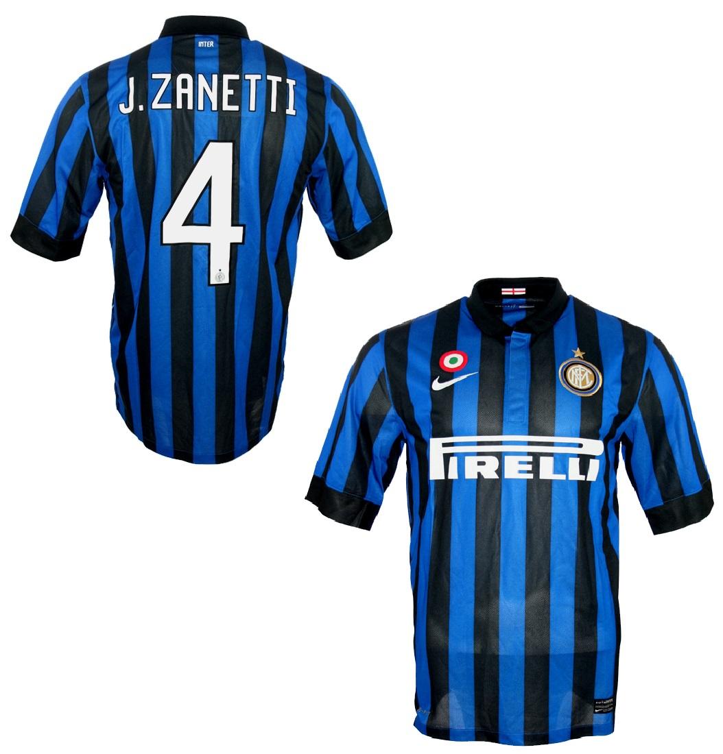 release date eac71 1b1ed Nike Inter Milan jersey 4 Javier Zanetti 2011/12 home men L ...