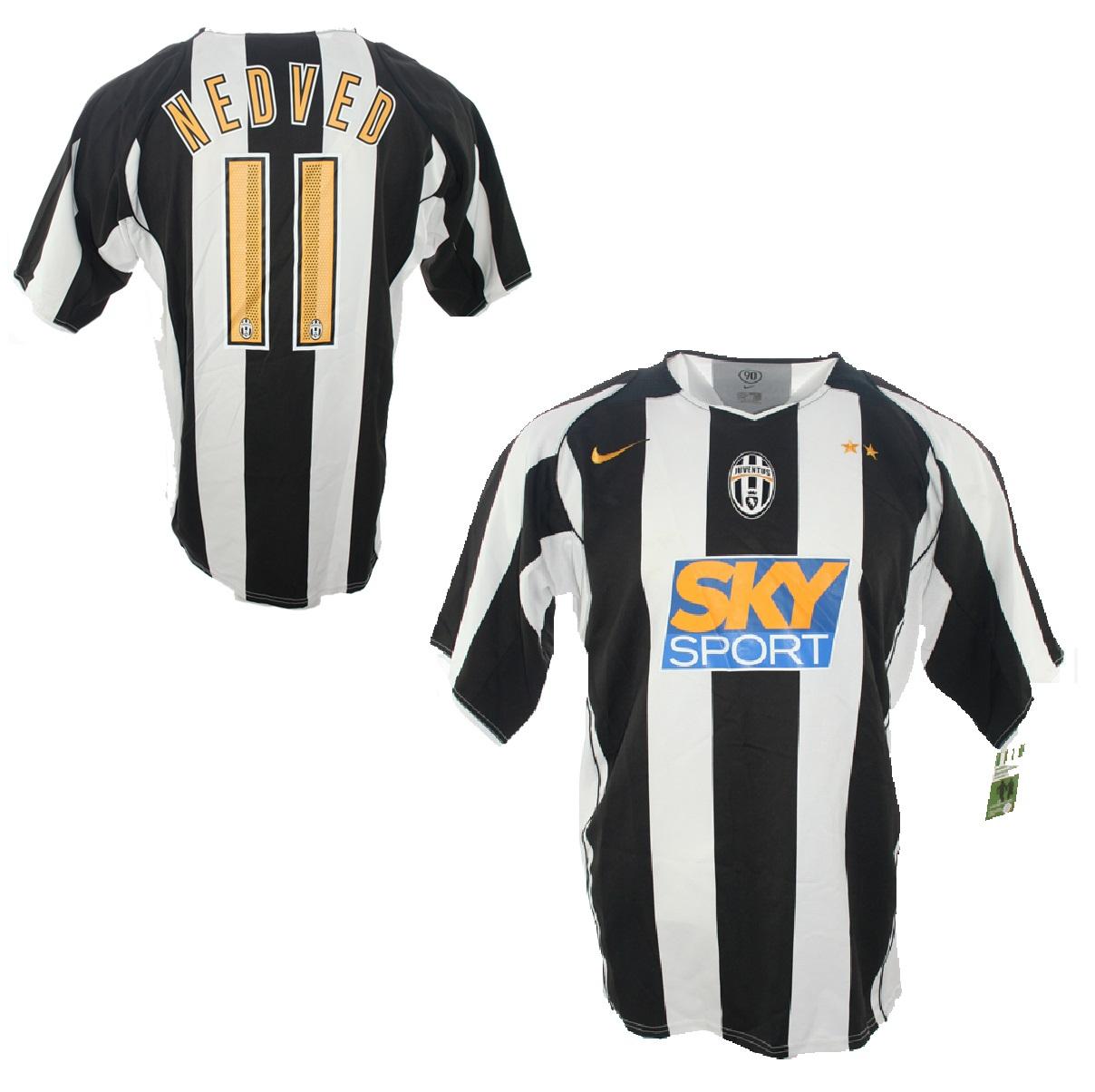 70292536e Nike Juventus Turin jersey 11 Pavel Nedved Sky sports 2004-06 home men s XL