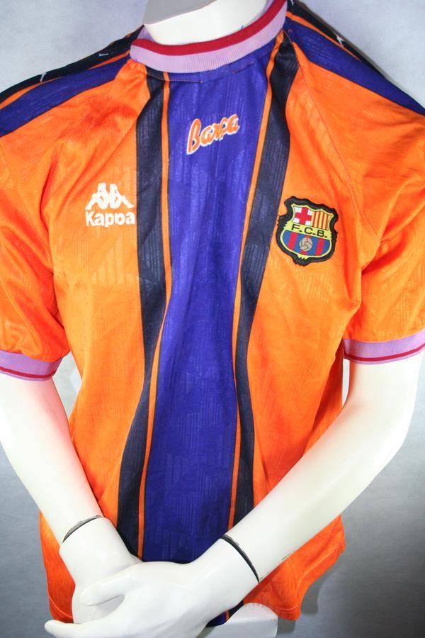 7ffe0cd53bc Kappa FC Barcelona jersey 7 Luis Figo 1997 98 Away orange men s S M ...