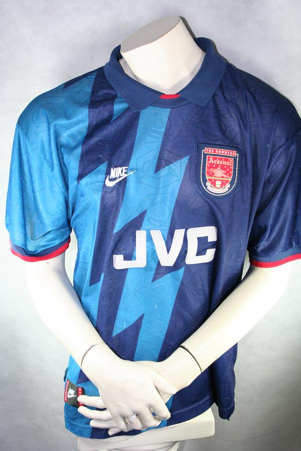 sale retailer 3e70e 64186 Nike Arsenal London Jersey 8 Ian Wright 1995/96 JVC Away men ...
