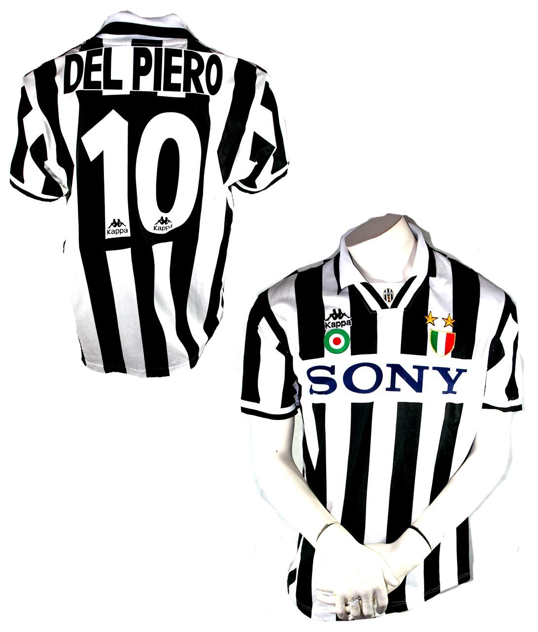new product 35ddc db987 Kappa Juventus Turin jersey 10 Del Piero Alessandro 1995/96 ...