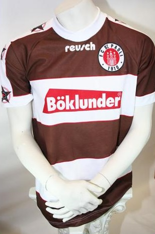 reusch fc st pauli trikot 1995 96 b klunder herren s m l. Black Bedroom Furniture Sets. Home Design Ideas