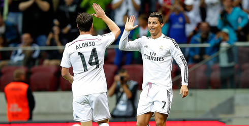 Adidas Real Madrid Camiseta 14 Xabi Alonso 2014 15 Emirates Home