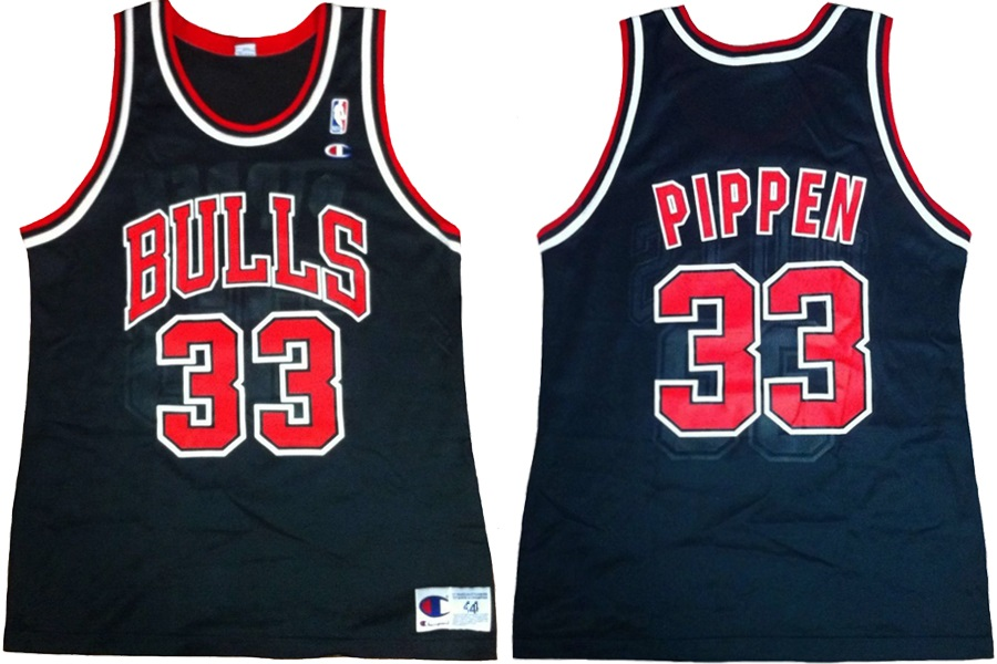 on sale c550f d69da Champion Chicago Bulls jersey 33 Scottie Pippen black 90er ...