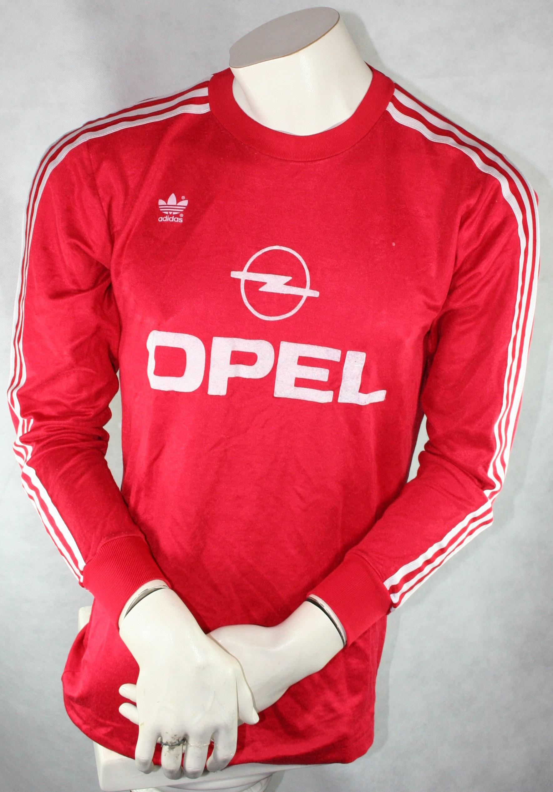 636efacbd53b50 Adidas FC Bayern München Trikot 10 Thon Laudrup 1989 91 Rot Heim Opel  Herren L