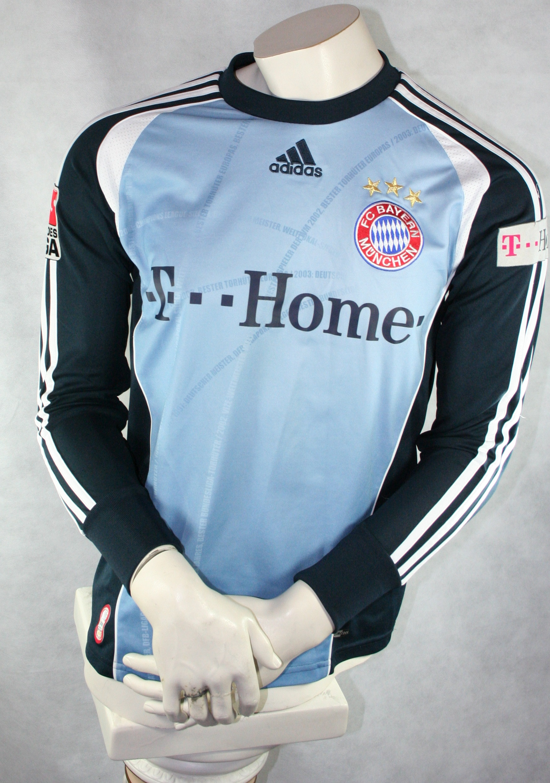 FC Bayern München Adidas Torwarttrikot Oliver Kahn Größe M NEU Vintage Trikot Fußball