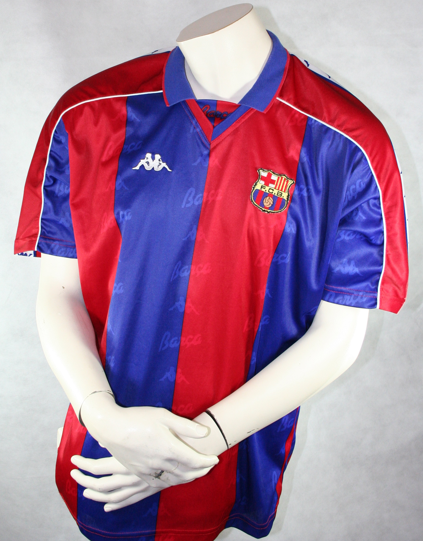 sale retailer f8a7b 29a70 Kappa FC Barcelona jersey 8 Christo Stoitschkow 1995/96 ...