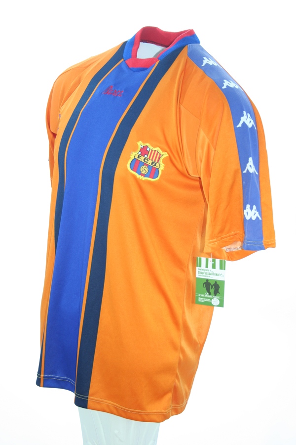 4140d20f2 Kappa FC Barcelona Jersey 21 Luis Enrique 1997 98 Away Orange Match Issued  men s XL