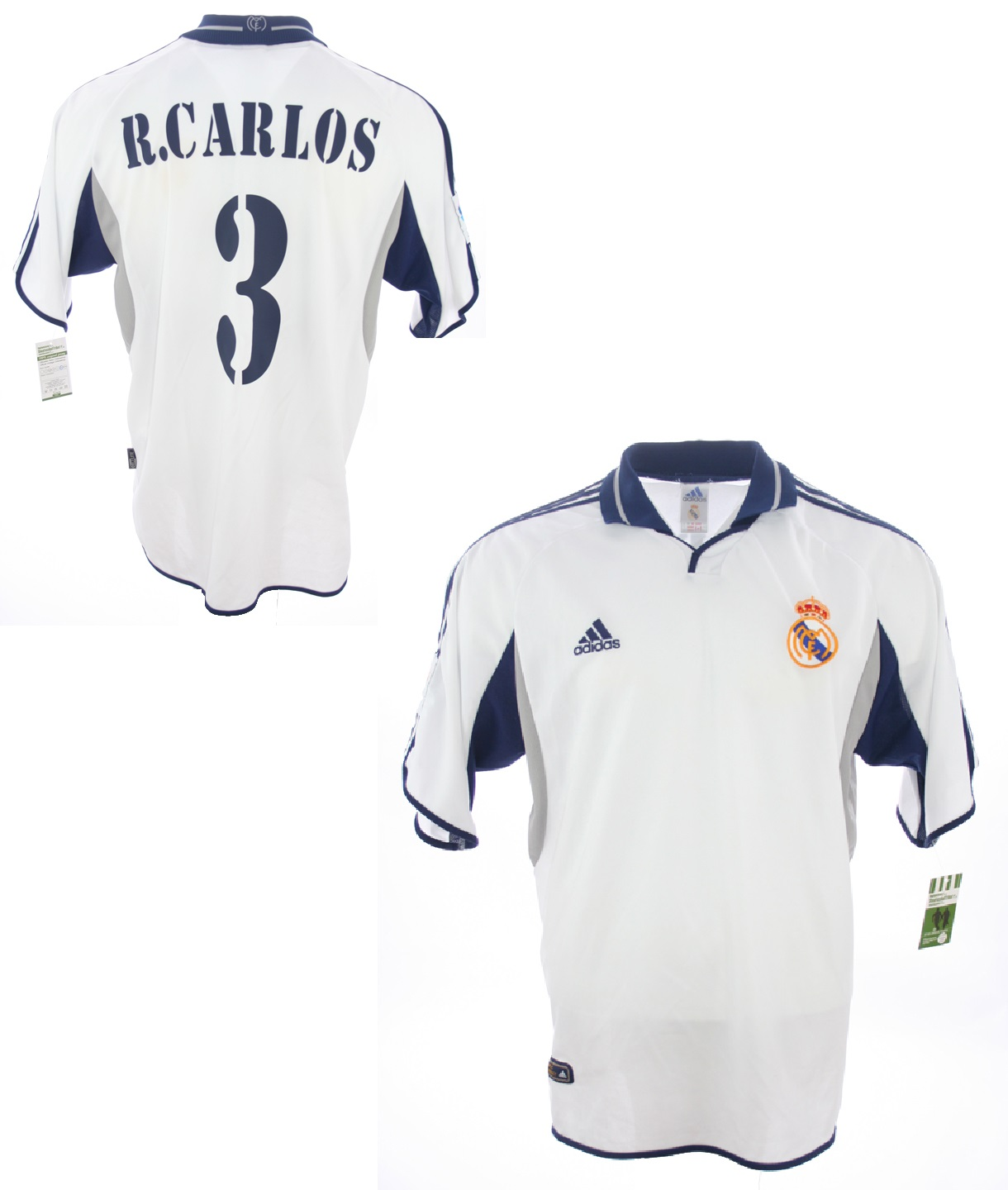 new product ddde7 474b6 Adidas Real Madrid jersey 3 Roberto Carlos 2000/01 without ...