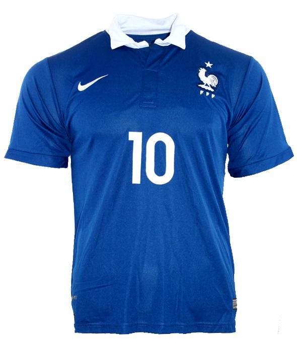 watch 59314 415f3 Nike France jersey 10 Karim Benzema world cup 98 1998 blue ...