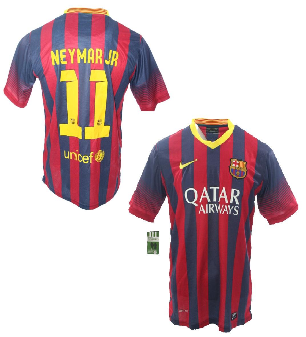 Nike FC Barcelona Jersey 11 Neyma 2013 14 Qatar home men