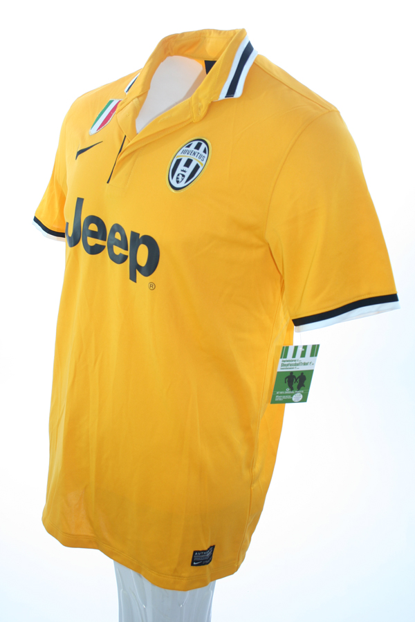 5698abcc5 Nike Juventus Turin jersey 10 Carlos Tevez 2013-14 Jeep CL away yellow  men's L