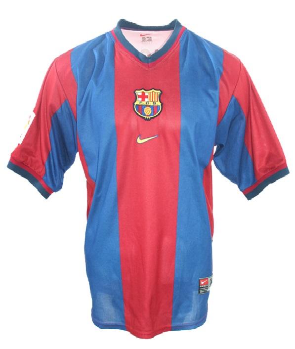 best website e6121 af8f3 Nike FC Barcelona jersey 7 Luis Figo 1998/99 home men's S/M ...