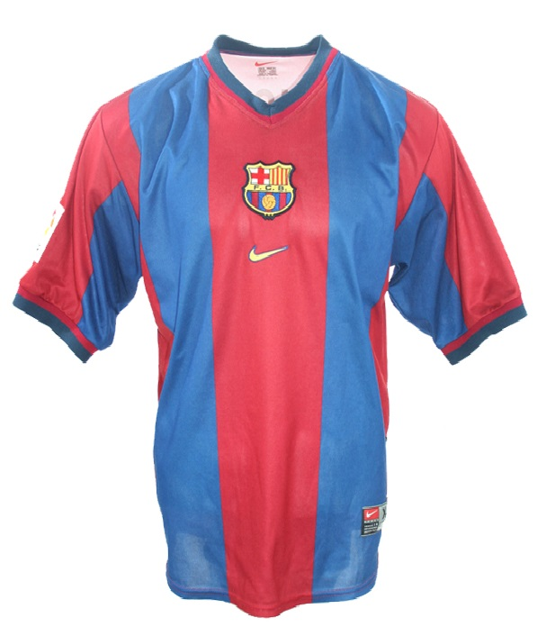best website 633bb 7534b Nike FC Barcelona jersey 7 Luis Figo 1998/99 home men's S/M ...