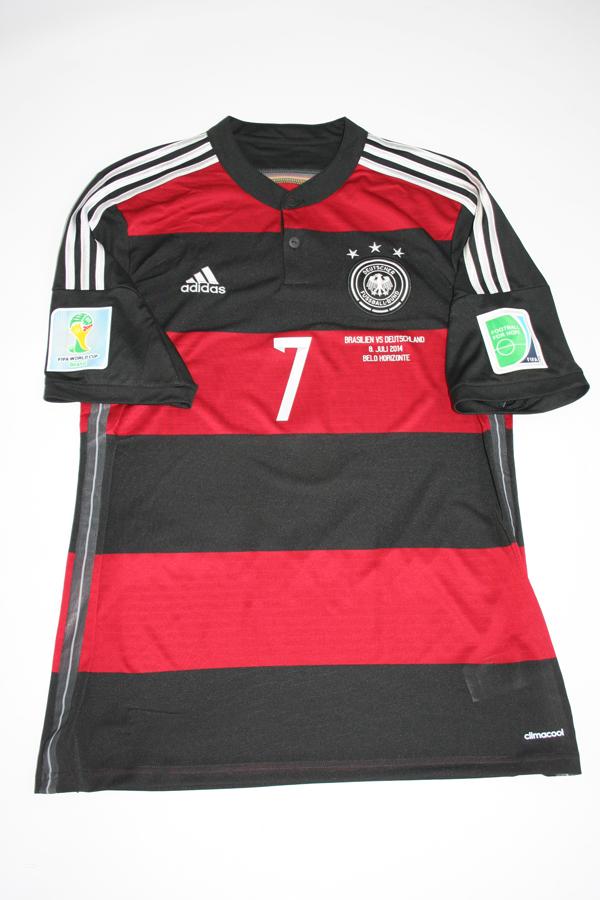 adidas DFB Deutschland Auswärtstrikot Away WM2014 mit Flock