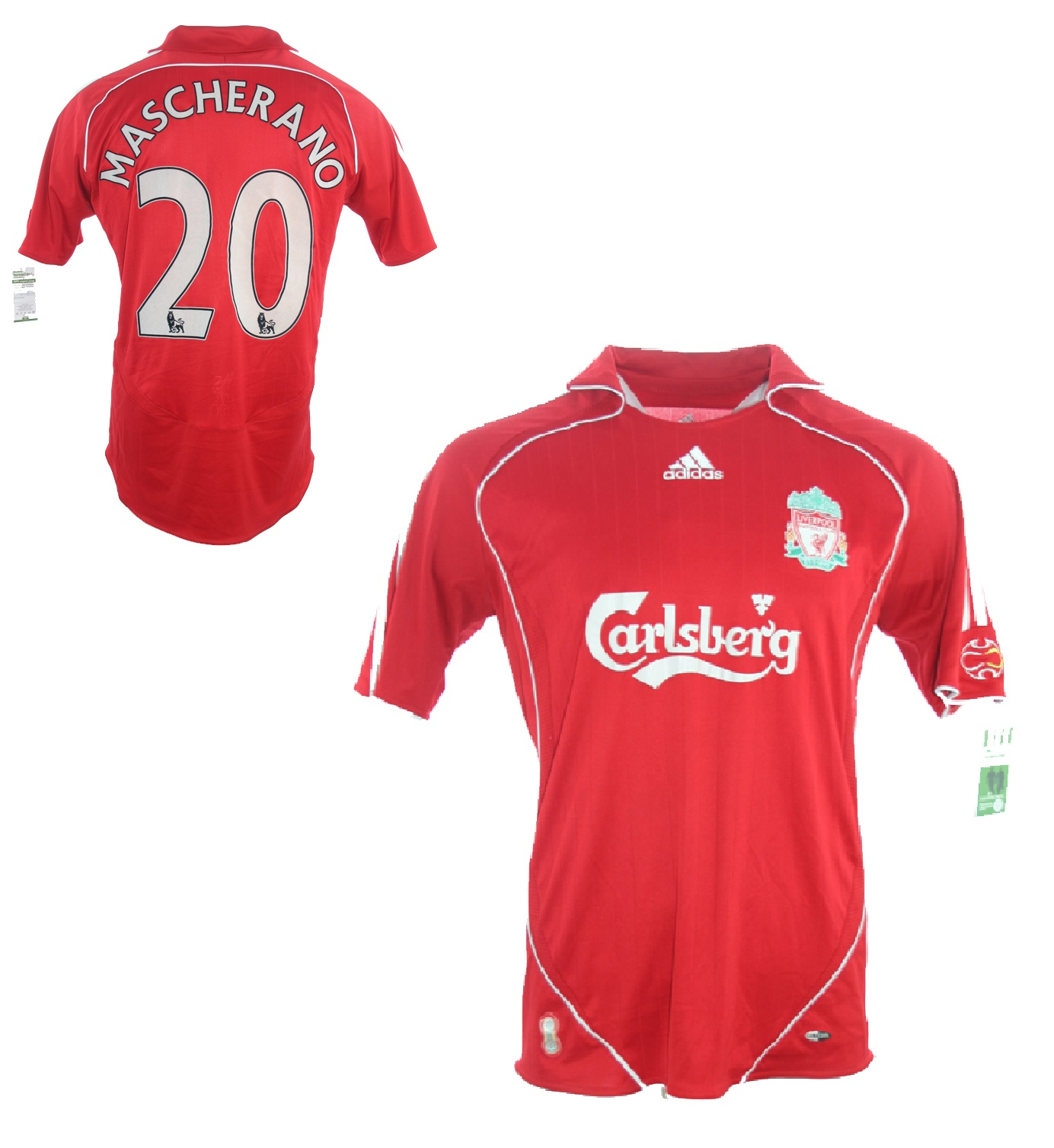 27ec0f0f902 Adidas FC Liverpool jersey 20 Javier Mascherano 2006-08 This is anfield  home men s L