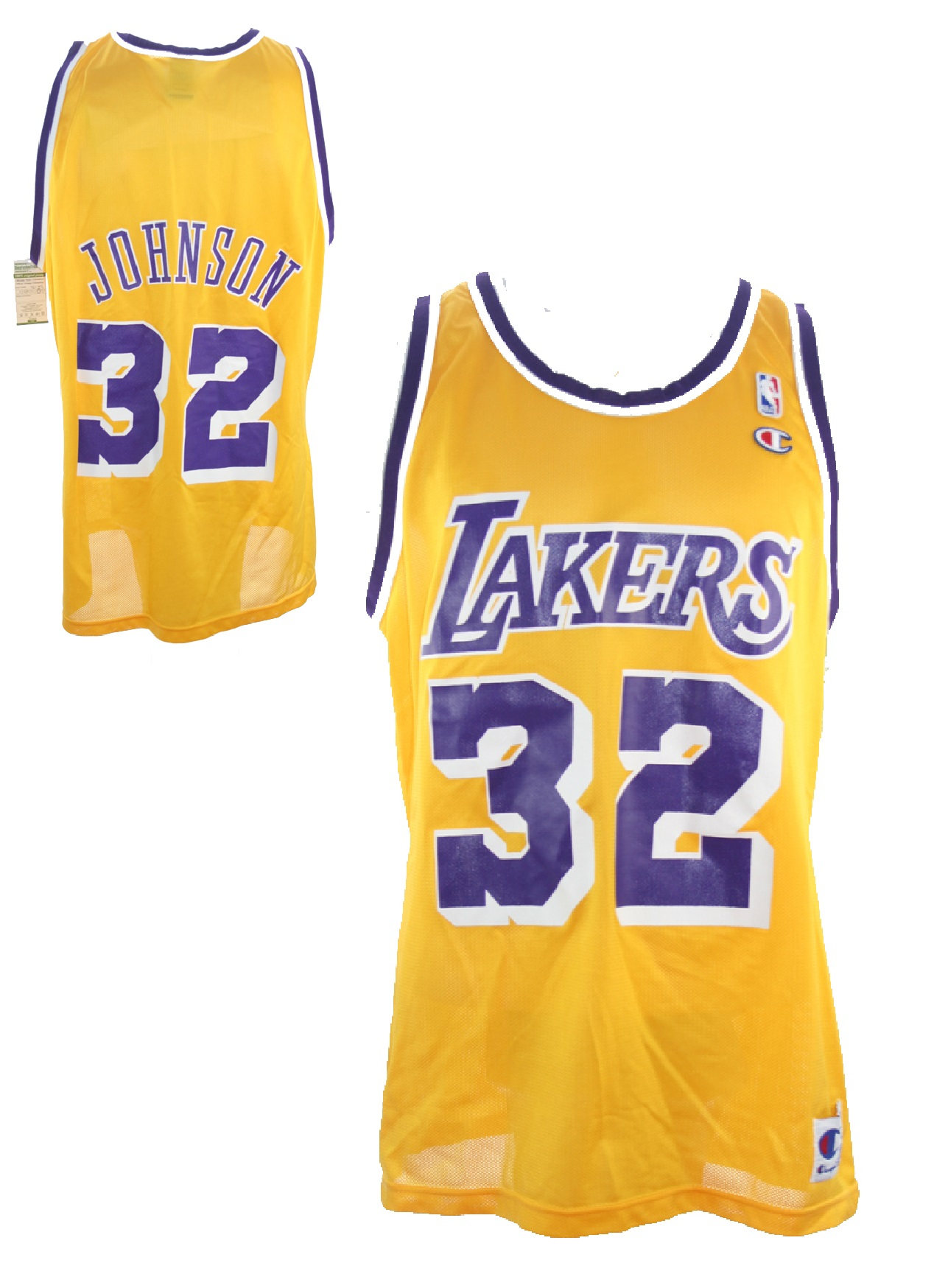the best attitude d52dc 25418 Champion Los Angeles L.A. Lakers Jersey 32 Magic Johnson ...