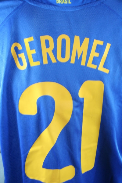 Nike Brazil Jersey 21 Geromel 2008-10 away blue men's S/M/L/XL/XXL