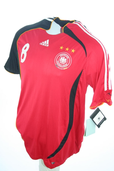 Adidas Germany jersey 8 Thorsten Frings 2006 red away new men's Large