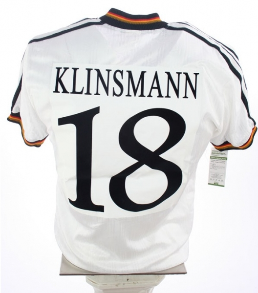 Adidas Germany jersey 1996 Euro 96 18 Jürgen Klinsmann Match worn men's S L or XL