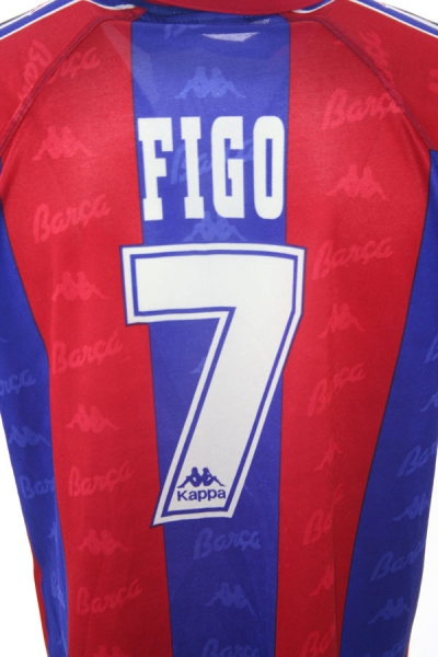 Kappa FC Barcelona jersey 7 Luis Figo 1996/97 home Match Issued New men's M