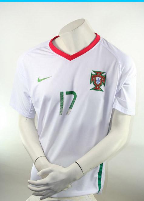 new style 8063c e373c Nike Portugal Jersey 17 Cristiano Ronaldo Euro 2008 Away white men's L