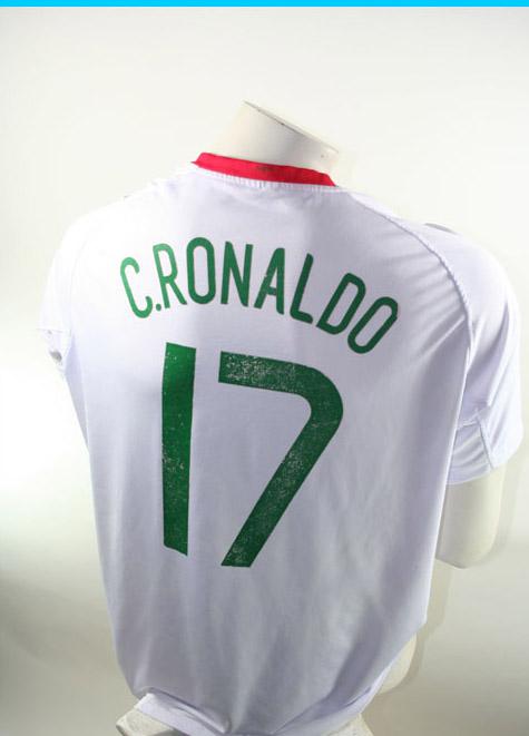new style bb058 8bfd3 Nike Portugal Jersey 17 Cristiano Ronaldo Euro 2008 Away white men's L