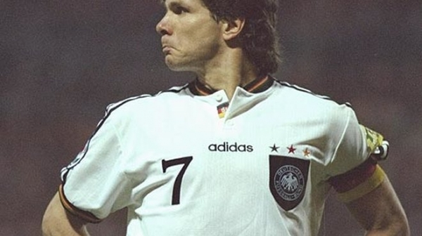 Adidas Germany jersey 7 Möller Euro 1996 winner home white men's XL