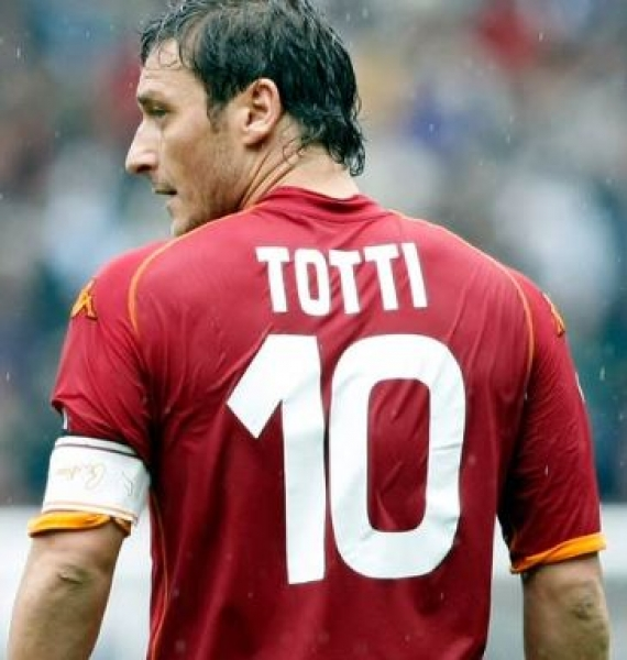 Kappa AS Rom jersey 10 Francesco Totti 2007/08 home red men's M