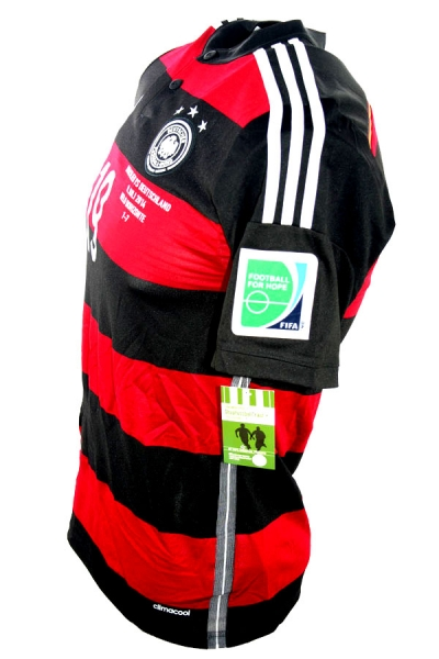 Adidas Germany jersey 19 Mario Götze WC 2014 away men's S-M 176cm