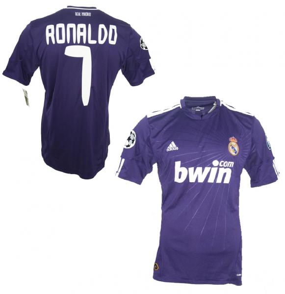 Adidas Real Madrid jersey 7 Cristiano Ronaldo 2010/11 Bwin away navy blue men's lage L
