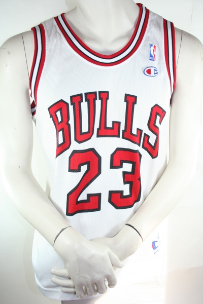 Champion Chicago Bulls jersey 23 Michael Jordan white NBA men's M L XXL