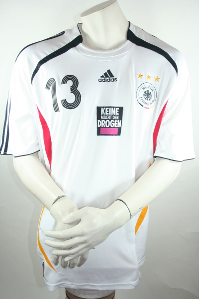 Adidas Germany jersey 13 Michael Ballack world cup 2006 keine Macht den Drogen men's XXL
