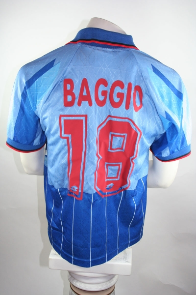 Lotto AC Milan Jersey Away 1995/1996 #18 Baggio Blue/Red S-M