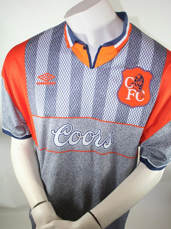 premium selection 12619 188e4 UUmbro Chelsea London jersey 1994/96 Coors 3rd Away men's S ...