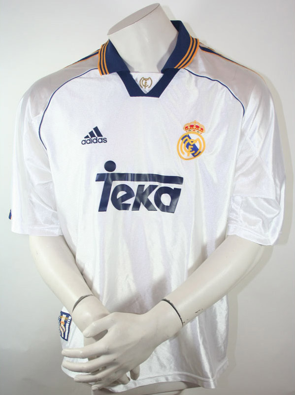 official photos eca08 ec77f Adidas Real Madrid jersey 1999/00 Teka home white men's S/M ...