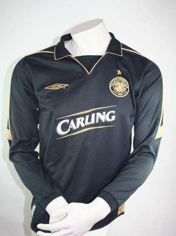 huge discount 09f39 0293c Umbro Celtic Glasgow Jersey 7 Henrik Larsson black Match ...